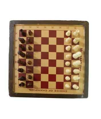 Muskaan Toyz Golden Wooden 14-Inch Chess