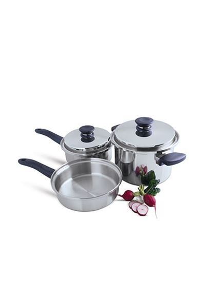 Alfa store amway queen 5 piece cookware set for Kitchen queen set