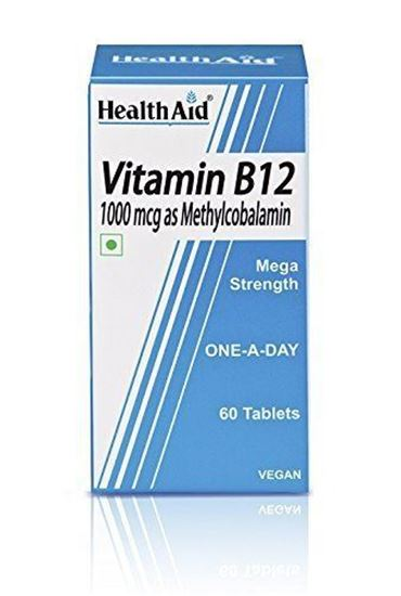 HealthAid Mega Strength Vitamin B12 1000mg - 60 Tablets to 1000µg
