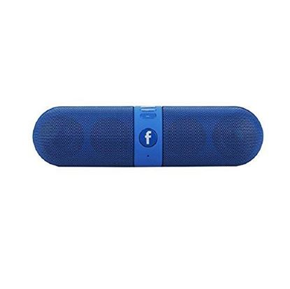 Picture of Capsule Bluetooth/Aux Cable Connectivity Multimedia Speaker Wireless Speaker (Blue)