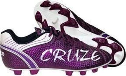Picture of Cosco Cruze Soccer Shoe, 7 UK (Purple/White)