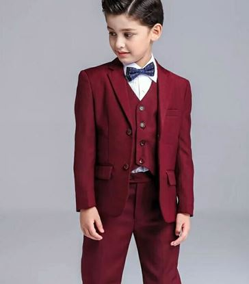Picture of Party wear blazer for boys with black bow