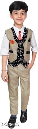 Picture of Boys Festive & Party Shirt, Waistcoat and Pant Set, Ethnic Set, 3PCS Set