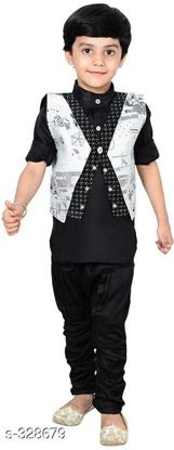 Picture of Boys Festive & Party Shirt, Waistcoat and Pant Set, Ethnic Set, 3PCS Set #3