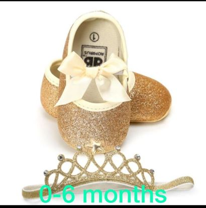 Picture of S.K Mani Baby-Girl's Toddler Boy'S Soft Sole Bow Shoes
