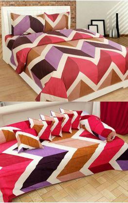 "Picture of ""Originals Combo""Glace Cotton Bedsheet Diwan Set**"