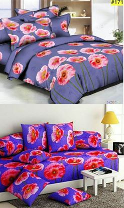 "Picture of ""Originals Combo""Glace Cotton Bedsheet Diwan Set***"